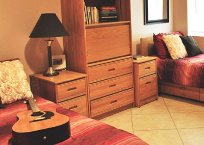 Canyon Vista Recovery Center bedroom with guitar
