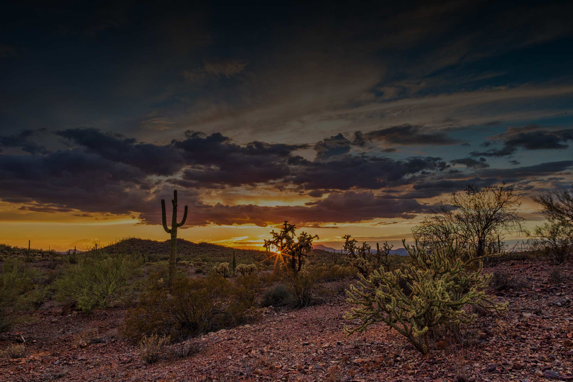 Mesa Drug Rehab Center - arizona desert at sunset