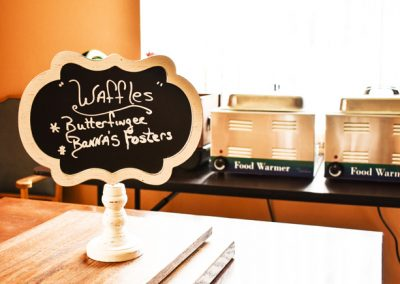 waffles signage and food warmers - Canyon Vista Recovery Center - addiction treatment in Arizona